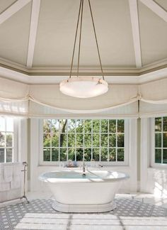 Dreamy master bath well the windows only