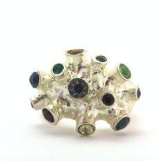 // Vergara Collection - Silver Acropora Ring - PAJAROLIMON Ring Designs, Stud Earrings, Jewels, Silver, Collection, Jewerly, Stud Earring, Gemstones, Earring Studs