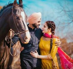 Punjabi Wedding Couple, Indian Wedding Couple Photography, Couple Photography Poses, Punjabi Couple, Punjabi Boys, Blur Photography, Sikh Wedding, Wedding Couple Pictures, Cute Couple Pictures