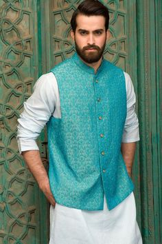 Amir Adnan Men Ceremony Kurtas Waist Coat Collection consists of stylish & fancy wedding formal menswear embroidered kurtas, classic waist coats Wedding Dresses Men Indian, Wedding Men, Wedding Suits, Goa Wedding, Punjabi Wedding, Wedding Ideas, Indian Weddings, Farm Wedding, Wedding Attire