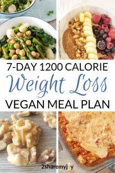 1200 calorie vegan weight loss meal plan weight loss m Vegan Meal Plans, Vegan Meal Prep, Diet Meal Plans, Low Calorie Vegan Meals, 0 Calorie Foods, Low Carb, 1200 Calorie Meal Plan, 1200 Calories A Day, Burn Calories