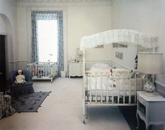 John F. Kennedy Jr's bedroom in the White House in 1962.