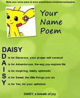 Daisy Name Poem