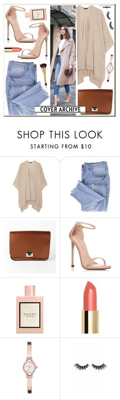 """Leathersatchel"" by leathersatchel ❤ liked on Polyvore featuring The Row, Essie, Stuart Weitzman, Gucci, DKNY, Violet Voss and tarte"