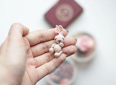 Ravelry; free crochet pattern for tiny bunny