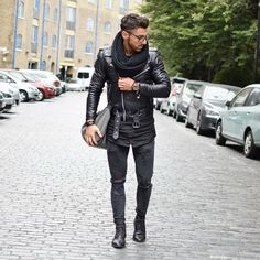 Street style Perfecto leather