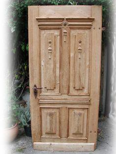 Haustüren holz antik  Antik Schwere Eichen Haustür Haustüre Tür Mit Verglasung ...