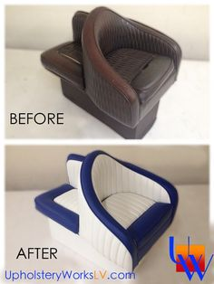 Upholstered Boat seats by Upholstery Works in Las Vegas at http://UpholsteryWorksLV.com Marine Upholstery
