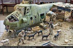 Mil Mi-4 1/35 Scale Model Diorama