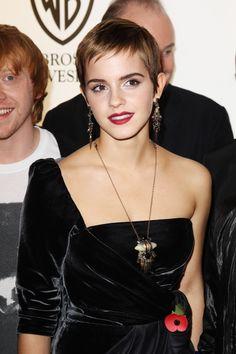 Emma Watson's Baby Bird Bangs