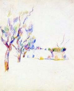Paul Cezanne : Photo almond trees in Provence, Cezanne