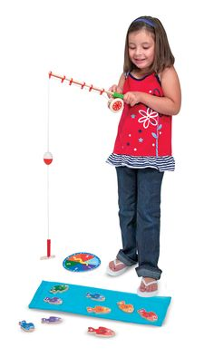 Catch & Count Magnetic Fishing Rod Set | Wooden Favorites | Melissa and Doug
