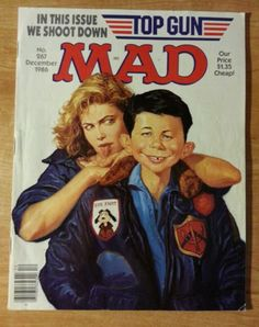 December 1986 issue 267 mad top Gun cover must have comic