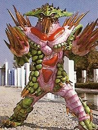 Spikey was a spike-covered plant-like monster used by Astronema. To prove her loyalty to Dark Specter, Astronema sent this monster after Andros. He could shoot a group of needles from his arm. He was destroyed by the Mega Voyager. See also Thorn-Needle Nezilar - Super Sentai counterpart in Megaranger. See comparison page.
