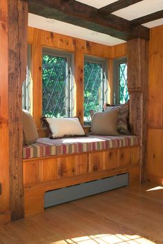 Family Room Windowsill Couch - Window Ideas