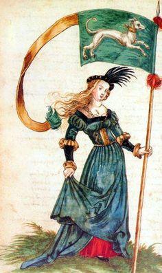 'Stett- and Ammeister of Strasbourg' by heraldic artist Sebald Büheler Costume Renaissance, Renaissance Mode, Renaissance Portraits, Medieval Costume, Renaissance Fashion, Renaissance Clothing, Medieval Banner, Medieval Art, Medieval Life