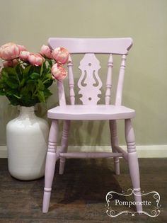 Fiddleback Chair painted in Henrietta by stockists Pomponette, in Leicester, England