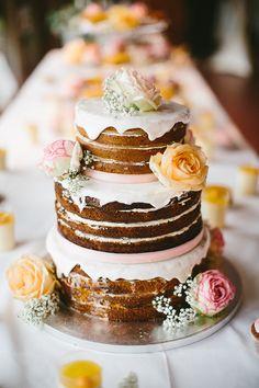 naked cake mit frischen beeren von wedding pinterest s jute. Black Bedroom Furniture Sets. Home Design Ideas