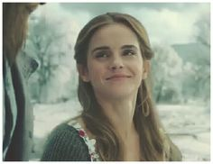 Belle (Emma Watson) she is so adorable ❤❤❤