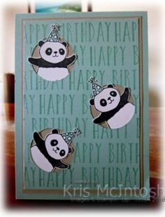 """You already know that I love Pinterest and this card is inspired by several I have seen recently (thanks so much for the inspiration). I stamped """"happy birthday"""" from the Perennial Bir…"""