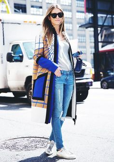 How to Wear Jeans and a T-Shirt Every Single Day via @WhoWhatWear