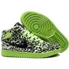 TOP A+ Mens Nike Air Jordan 1 Leopard Shoes Green