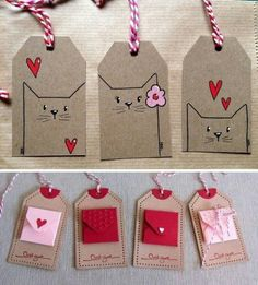 Hand crafted gift tags 5 per pack – Artofit Diy Gifts, Craft Gifts, Diy And Crafts, Crafts For Kids, Handmade Gift Tags, Ideias Diy, Paper Cards, Cardmaking, Card Tags