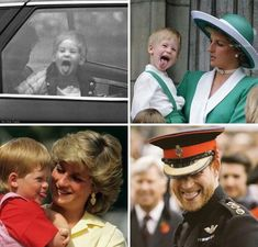 Prince Harry throughout his life and with his mother Diana. Some things never change. Funny Cute, Really Funny, Hilarious, Funny Photos, Best Funny Pictures, Happy Facts, Princess Diana Family, Some Things Never Change, Prinz Harry