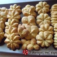 Μπισκότα βουτύρου Greek Sweets, Greek Desserts, Greek Recipes, Biscotti Cookies, Cupcake Cookies, Chip Cookies, Sweets Recipes, Cookie Recipes, Vet Cake
