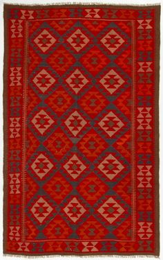 This beautiful Maimana kilim, flat woven rug from Afghanistan is coloured with vegetal and organic dyes and can be used on both sides. Maimana is the capital of Faryab province in northern Afghanistan and has a long tradition of making flat woven kilim rugs. | eBay!