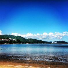 Discovery Bay in Hong Kong. Beach, Ocean, Flats, and a Beautiful Sky.