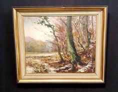 Flämische Waldlandschaft. Orig. Ölgemälde, Impressionist. Signiert R. De Groodt