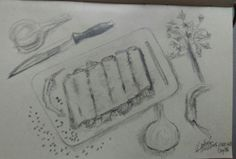 About to cook. Everyday Drawing Challenge in less than 30min. Day 76.