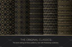 Art Deco Seamless Patterns by wingsart on @creativemarket