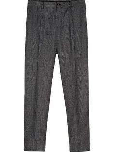 DOLCE & GABBANA Dark Gray Wool Prince Of Wales Trousers. #dolcegabbana #cloth #trousers