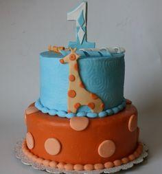 Giraffe First Birthday By Lovemesomecake on CakeCentral.com