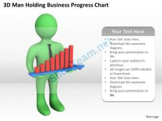 3D Man Holding Business Progress Chart Ppt Graphics Icons Powerpoint #Powerpoint #Templates #Infographics