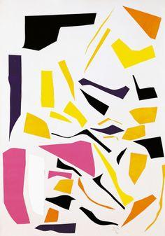 Imi Knoebel / Untitled / 1987 / Paper on card
