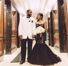 Nigerian wedding black wedding dress