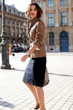 The DNA of The Parisian Style: leather jacket