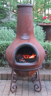 Chiminea For My Patio Sitting By The Chiminea On A Summer S Night