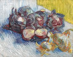 Vincent van Gogh - Red Cabbages and Onions, 1887 at Van Gogh Museum Amsterdam Netherlands