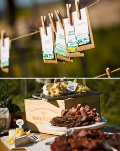 LOVE the idea of doing place cards as seed pockets or favors as seed pockets....cuz it's a farm and yea...cute!