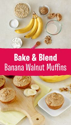 "One of my new favorite recipe hacks is making ""blender muffins."" Just blend up the ingredients, pour into a muffin pan, and bake! Each of these muffins has around 100 calories, and they're made with deliciously wholesome ingredients like oats, Greek yogurt, egg whites & banana. BONUS: They're gluten-free! 1 muffin: 101 calories 