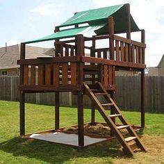 Adventurer Swing Set / Fort Kits & Plans + high deck - Johnny - Adventurer Swing Set / Fort Kits & Plans + high deck Adventurer Wooden Fort Only Kit -