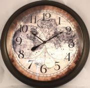 World map clock available in many sizes come see many more map world map clock available in many sizes come see many more map clocks decorating pinterest clocks vintage maps and big clocks gumiabroncs Image collections
