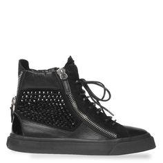 giuseppe zanotti limited edition black calfskin sneaker