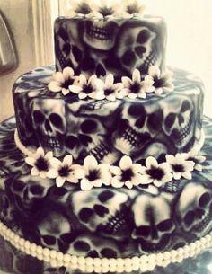 25 Wedding cakes with skulls - Skullspiration.com - skull designs, art, fashion and more