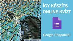 Tudtad, hogy a Google Űrlap nem csak válaszok egyszerű begyűjtésére, de azok azonnali kiértékelésére is jó? Így készíthetsz vele online teszteket, játékos kvízeket. Mutatom, hogy csináld ... Google