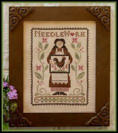 """My Needle's Work"" is the title of this cross stitch pattern from Little House Needlework.  The price includes the pattern and the Crescent ..."